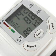 Blood Pressure Monitor Digital Sensor Tester Automatic Wrist Air Pump WHO Warnin