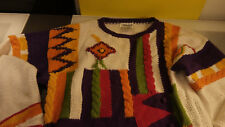 Appraisal Women's Small Good Shape Goldbergs Style Funky Multi Colored Sweater