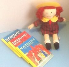 "Eden Madeline 15"" Doll w/ 3 HB Books-Madeline's Rescue/The Bad Hat/In London"