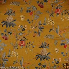 SCALAMANDRE LA PEROUSE LAMPAS BROCADE FABRIC 10 YARDS MULTI MORDORE