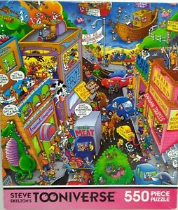 Tooniverse jigsaw puzzle 550 pieces COMPLETE Higgley Avenue Animals Comic