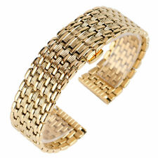 18/20/22mm Silver Gold Stainless Steel Watch Band Strap Replacement Bracelet