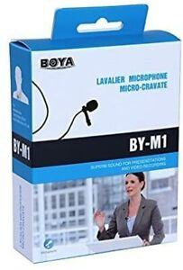 BOYA BY-M1 Dual Head Lavalier Microphone for DSLR Canon Nikon Smartphones