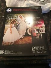 "HP Premium Plus Photo Paper 50 Sheets Soft Gloss 8.5""x11"" Instant Dry CR667A"