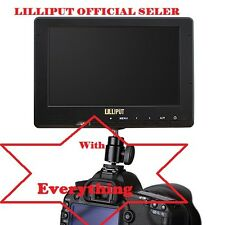 "Lilliput 7"" 667/S  HD-SDI in&out  HDMI & YPbPr Camera-top Monitor LP-E6 battery"
