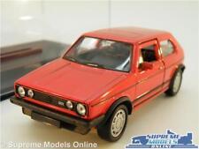 VOLKSWAGEN VW GOLF MK1 GTI MODEL CAR 1:38 SIZE RED + DISPLAY CASE OPENING DOOR T