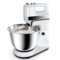 250W 5-Speed Stand Mixer w/ with Dough Hooks Beaters and Stainless Steel Bowl
