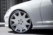 """19"""" MRR HR3 SILVER VIP CONCAVE WHEELS RIMS SET FITS MERCEDES S430 S500"""