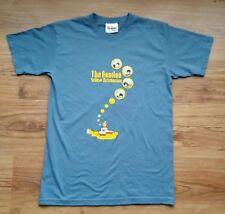 THE BEATLES YELLOW SUBMARINE T Shirt Top Unisex SLATE BLUE COTONE TAGLIA SMALL