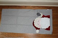 NWT Pottery Barn Kids Santa Christmas 17x70 table runner gray