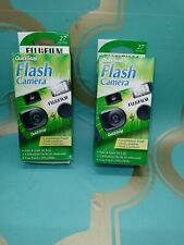 Fujifilm Quicksnap Flash 400 One Time Use Disposable 35mm Camera 27exp x2