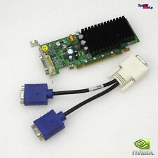 Low Profile Carte vidéo NVIDIA GeForce 7300le 128 Mo DVI dms-59 Dual Head VGA