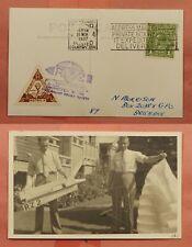 1937 Australia Rocket Mail Flown Card Ez# 10C2 * Ex Al Barnes