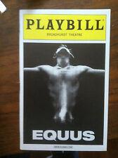 EQUUS playbill Broadway Daniel Radcliffe Richard Griffiths Broadhurst Theatre NY