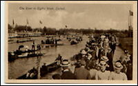 England Great Britain Pc River EIGHTS WEEK Osford <1945 Great Britain Postcard