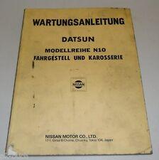 Werkstatthandbuch Wartungsanleitung Datsun Cherry N10 Fahrgestell und Karosserie