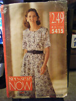 Vintage Butterick See & Sew 5415 Misses Top & Split Skirt Pattern - Sizes 6-14
