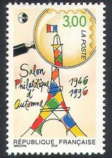 France 1996 Autumn Stamp Show/Eiffel Tower/Magnifying Glass/Philately 1v n40873