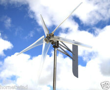 "KT Ghost 74"" ALUMT 5 Blade Wind turbine Low Wind 12 VDC 2 wire 14 mag 6.3 kWh"