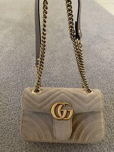 Gucci - GG Marmont Matelassé Velvet - MShoulder Bag - 100% Authentic