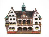 Freiburg Rathaus Souvenir Deluxe Holz Magnet Germany Neu