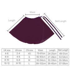 Chiffon Girl Ballet Tutu Dance Skirt Women Skate Wrap Scarf Dance Wear 4 Color Purple M