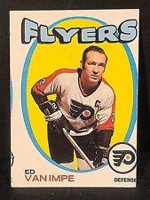ED VAN IMPE 1971-72 Topps Hockey OddBaLL ERROR Miscut SP Card #126 FLYERS