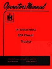 INTERNATIONAL FARMALL 650 Diesel Operators Manual IH