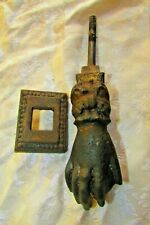 Antique cast Iron Hand Door Knocker, Architectural Salvaged, Hand-made in 1836's