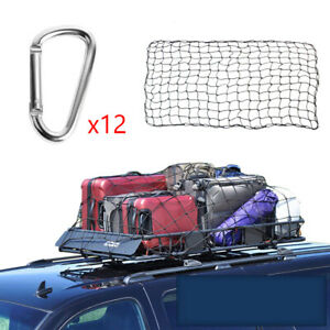 180x120CM Car Roof Luggage Net Mesh Top Rack Cover Carrier Cargo w/Buckles 1PC