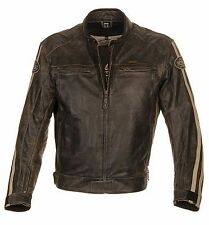 Richa Retro Racing Vintage Casual Leather Motorcycle Jacket - Brown RRP£249.99