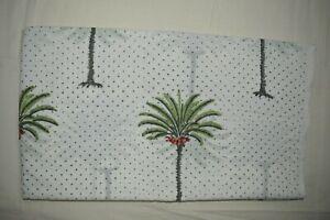 Indian 100 Yard Hand Block Palm Tree Floral Print_1504 Cotton Craft Fabric..
