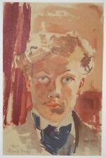Autoportrait -  lithographie signée Raoul Dufy 1901