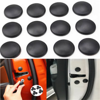 Black Universal Car Interior Accessory Door Lock Screw Protector Cover Cap Trim