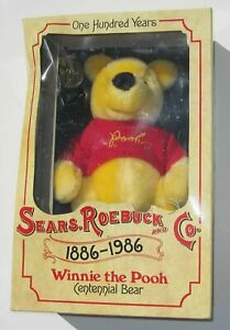 1986 Plush Winnie The Pooh Sears Roebuck 100 Years Centennial Bear In Box Unused