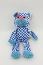 CHECKOUT Plush - Blue Checkered Bear Toy -17x5.5in - NWT