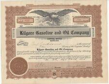 c. 1920 KILGORE GASOLINE AND OIL COMPANY Stock Certificate