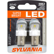 2-PK SYLVANIA ZEVO 2057 White LED Automotive Bulb