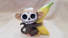 Furrybones Munky the Monkey Figurine Skull in Costume Collect New Free Shipping