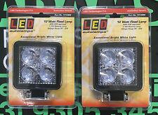 LED Autolamps 2x 7312BM 12 Watt Flood Lamp 9-30 Volt 660 Lumen 5 Year Warranty