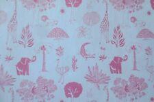 MINIATURE DOLLHOUSE wallpaper zoo animals vintage 1:12