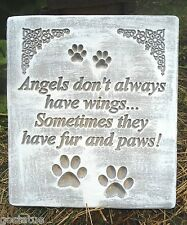 Dog angel stepping stone plastic mold concrete plaster garden mould