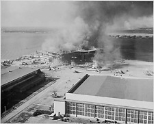 WW2  Photo Pearl Harbor Fire Ford Island 7 December 1941 WWII World War Two Navy