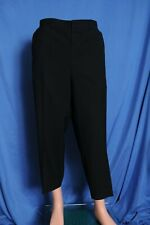 Vintage '50s black wool metal zipper drop loop flat front dress pants 39X24.5