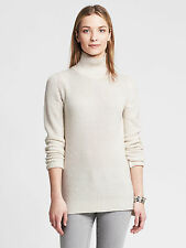 NWT Banana Republic Women's Ribbed Mock Pullover Color Cocoon White Size M