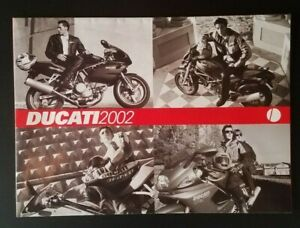 Vintage 2002 Ducati Brochure Poster Superbike 998 748 Supersport Monster Desmo
