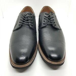 Stacy Adams Men's 9.5 Black Round Toe Oxford Memory Foam Dress Shoes 20190-007
