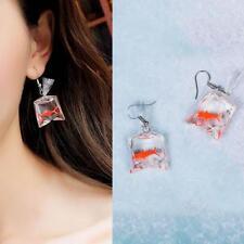 Women Funny Cartoons Goldfish Water Bags Shaped Dangle Earrings Fashion Jewelry