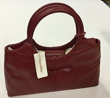 Naturalizer Genuine Leather Burgandy Purse Handbag New