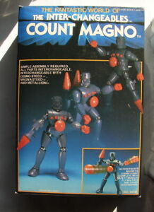 Micronauts Inter-changeables COUNT MAGNO MIB  Hourtoy1987 RARE android MEGO  A21
